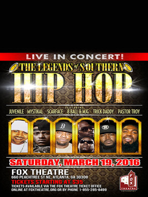 Legends of Southern Hip Hop Poster